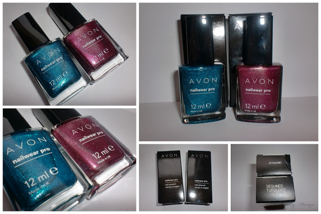 AVON Sequined Turquoise & Dynamo