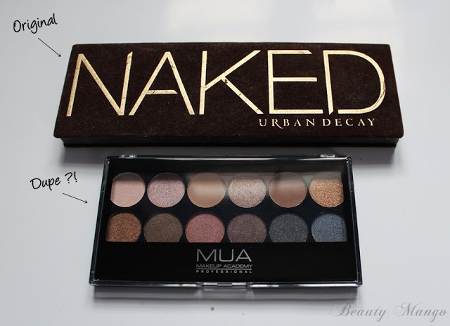 [Dupevergleich] Urban Decay Naked Palette 1 vs. MUA Undressed