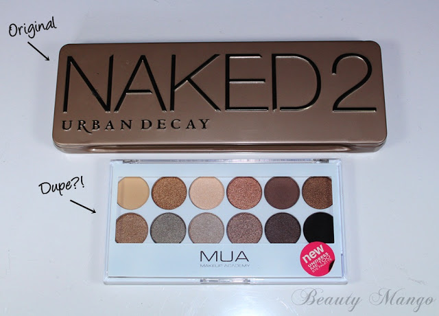 [Dupevergleich] Urban Decay Naked 2 vs. MUA Undress me to