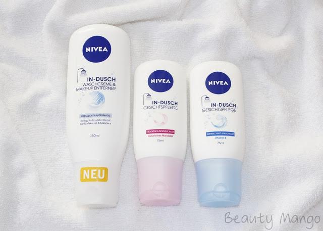 [Review] Nivea In-Dusch Waschcreme & Make-Up Entferner und Gesichtspflege