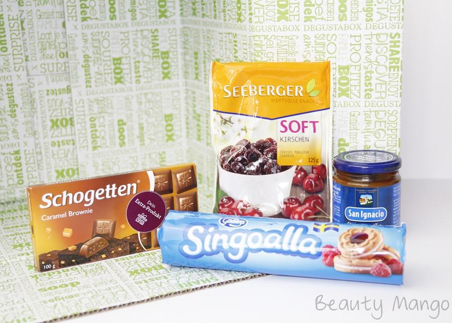 Degustabox März 2016 Inhalt Süßigkeiten