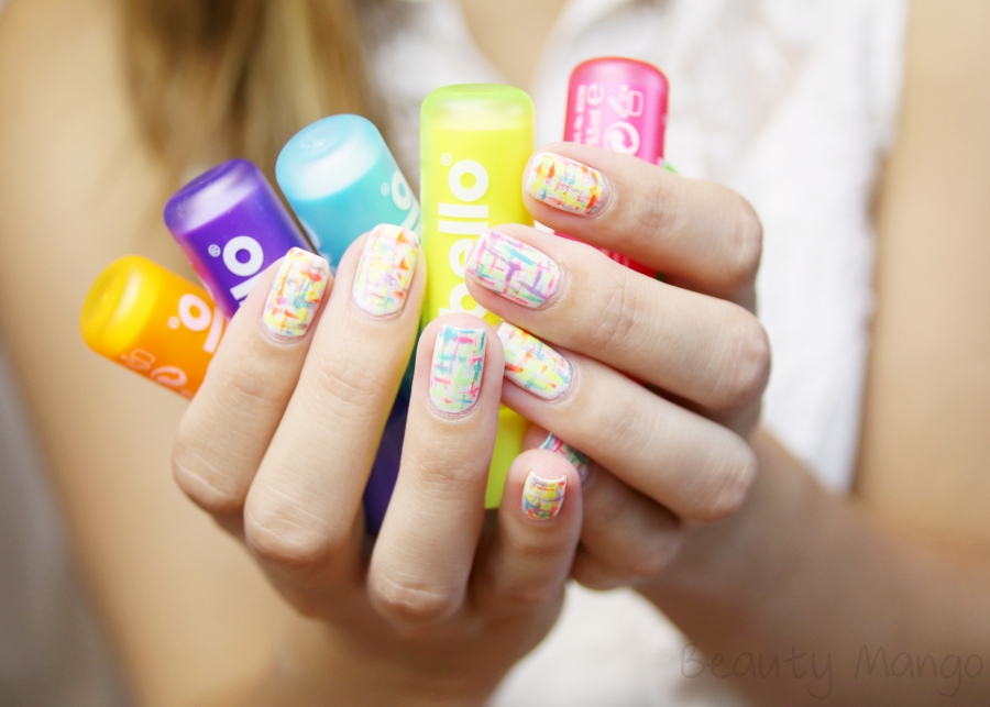 nailart-neon-tweed-nails