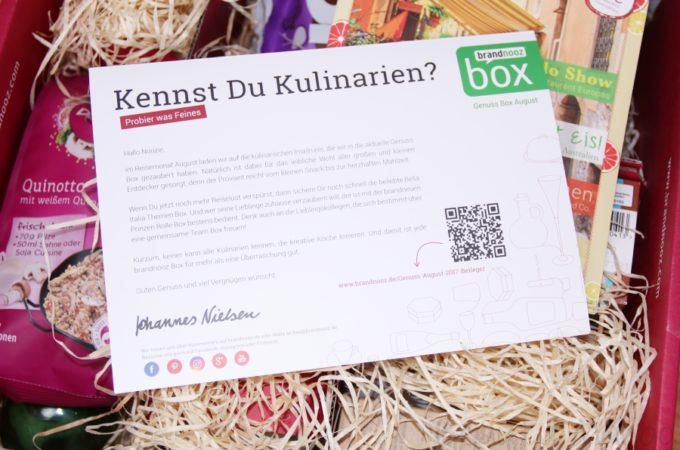 brandnooz Genuss Box August 2017