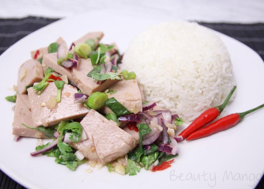 [Rezept] Yam Moo Yaw ยําหมูยอ (thailändischer Wurstsalat)