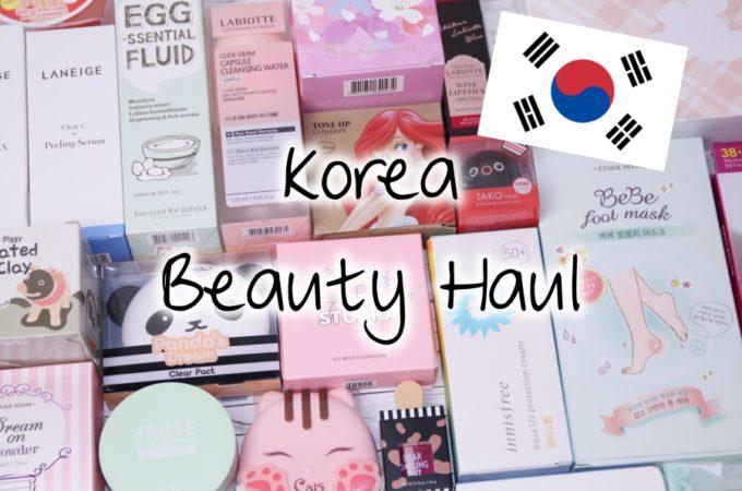 Korea Beauty Haul