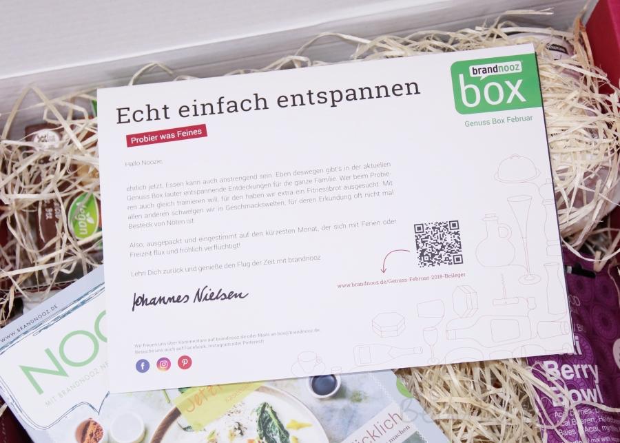 brandnooz Genuss Box Februar 2018